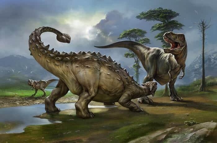 Batalla: Ankylosaurus VS Tyrannosaurus