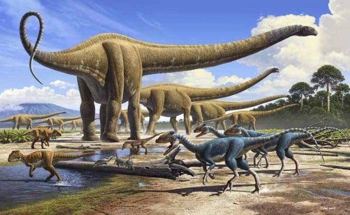 habitat natural y ecosistema de los dinosaurios