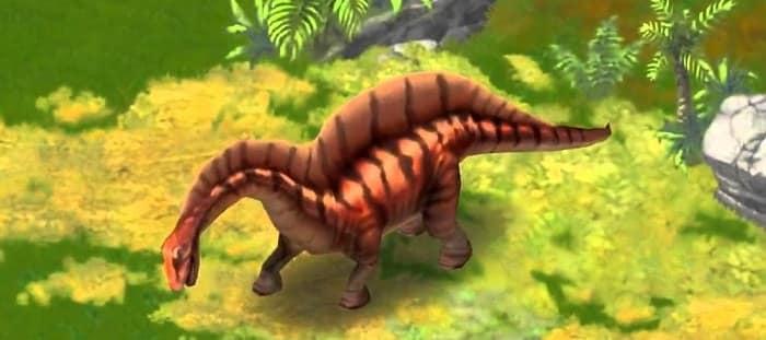 Amargasaurus dentro del juego Jurassic Park Builder