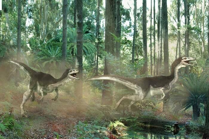 comportamiento del troodon en la selva